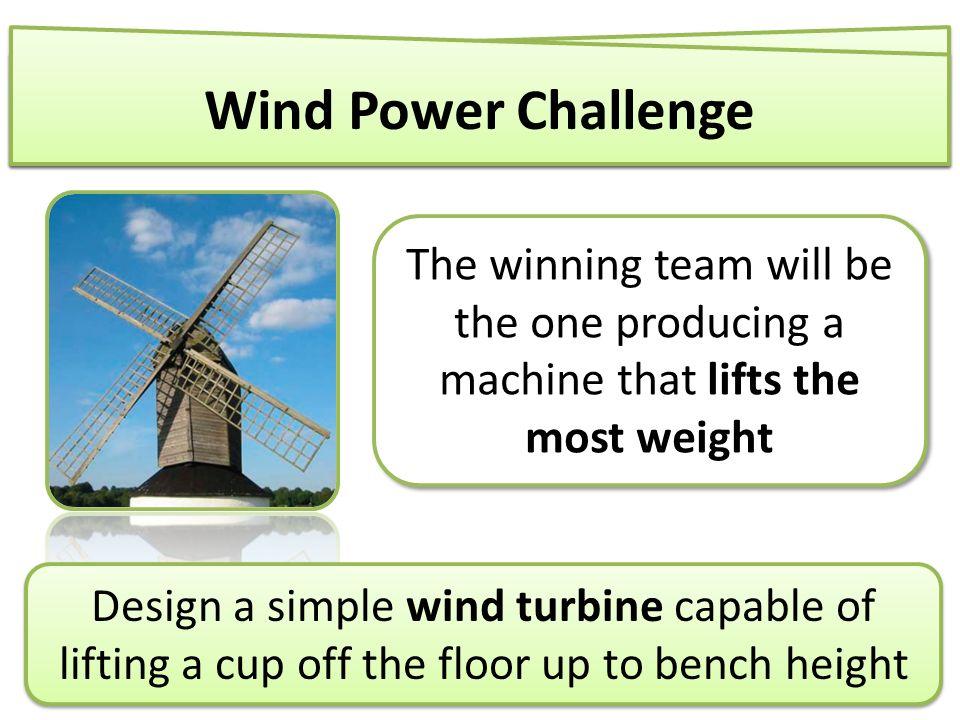 Junior STEM Soc presents    Design a simple wind turbine