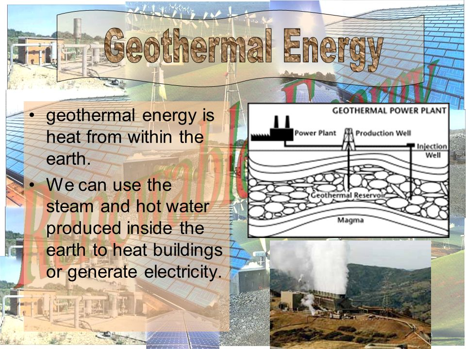 geothermal energy is heat from within the earth.