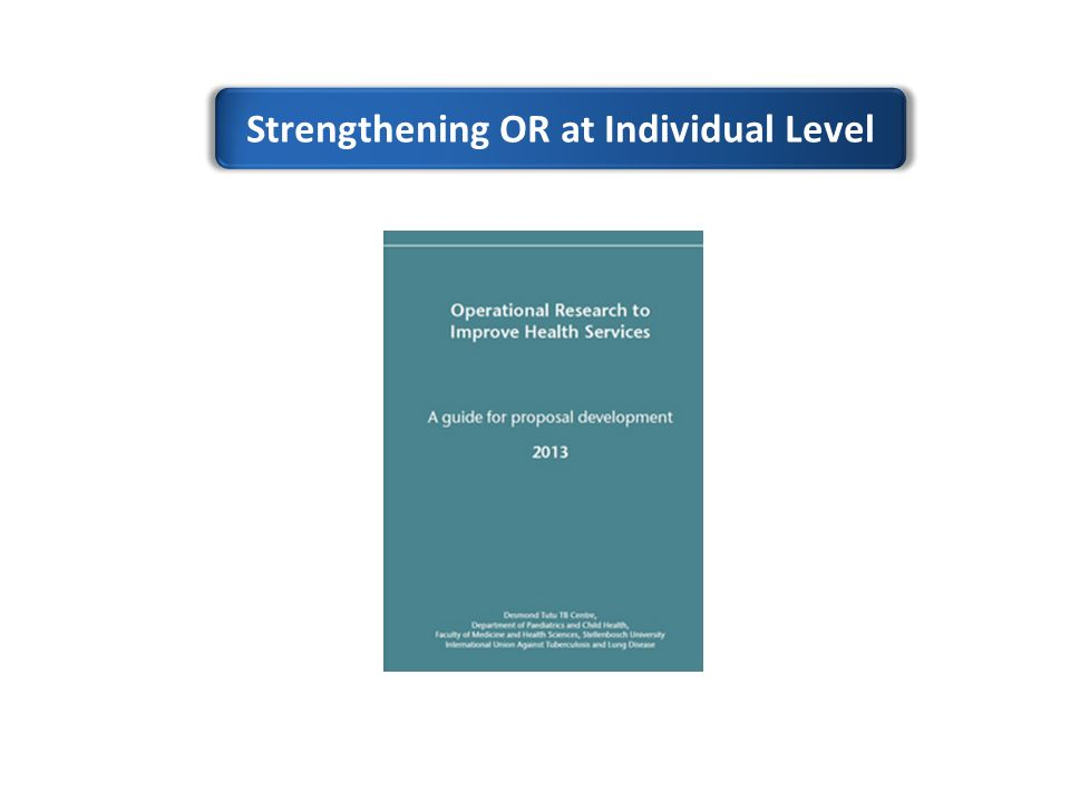 Strengthening OR at Individual Level