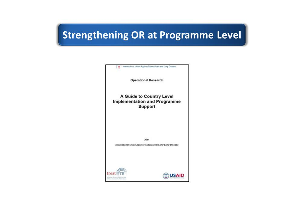 Strengthening OR at Programme Level