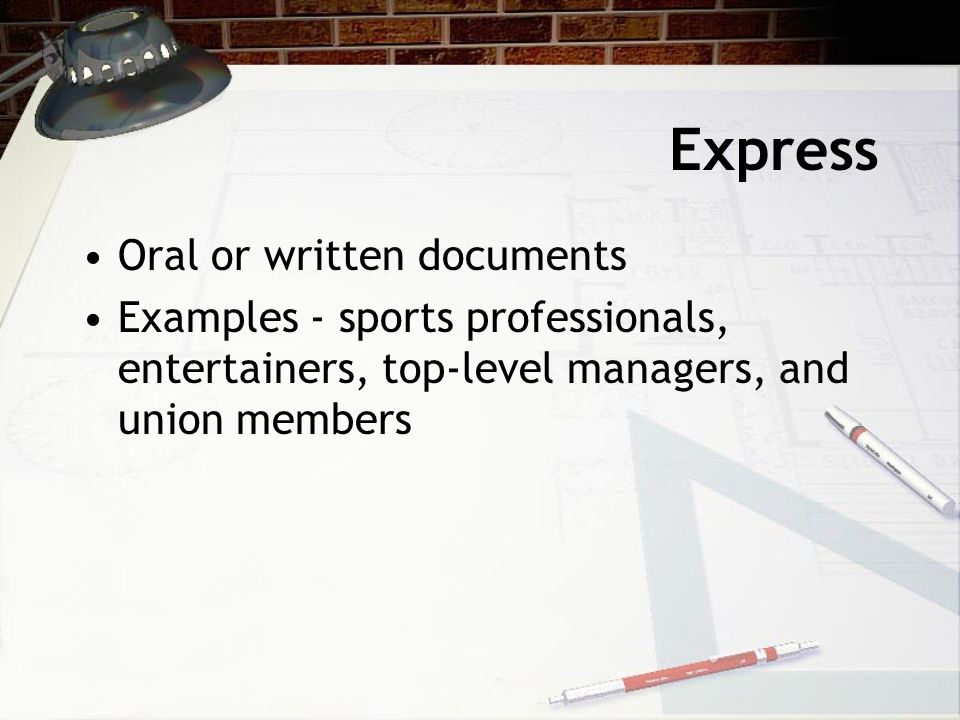 How are Employment Contracts Established Express Implied By Law
