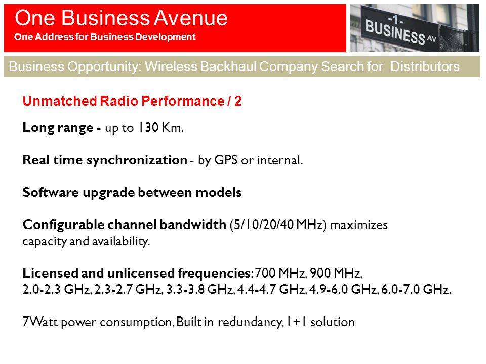 One Business Avenue Address For Development Opportunity Wireless Backhaul Company Search