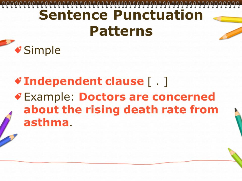 Simple Independent clause [.