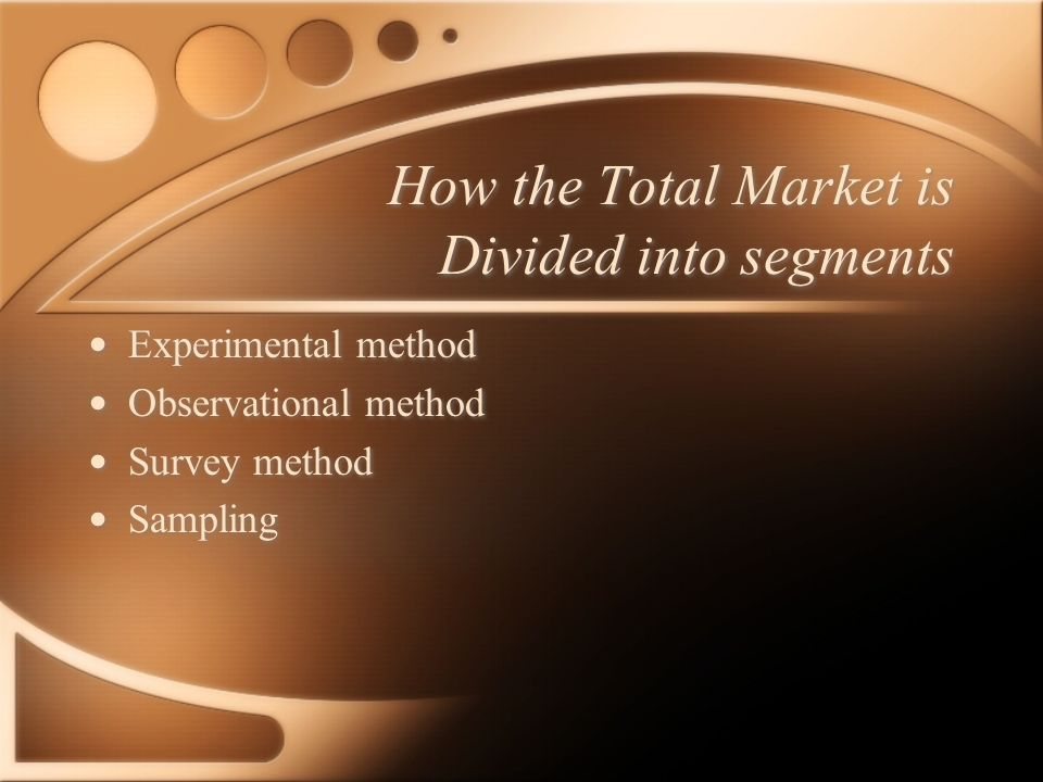 Market Research Methods Demographic Geographic Product usage Benefit Lifestyle Demographic Geographic Product usage Benefit Lifestyle