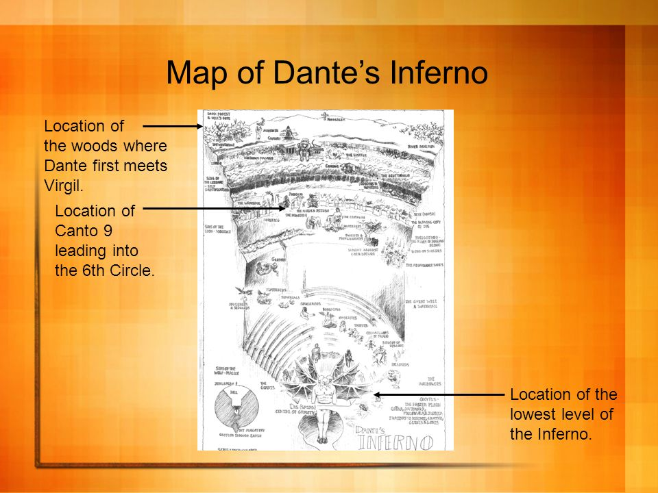 Dante S Inferno Map on