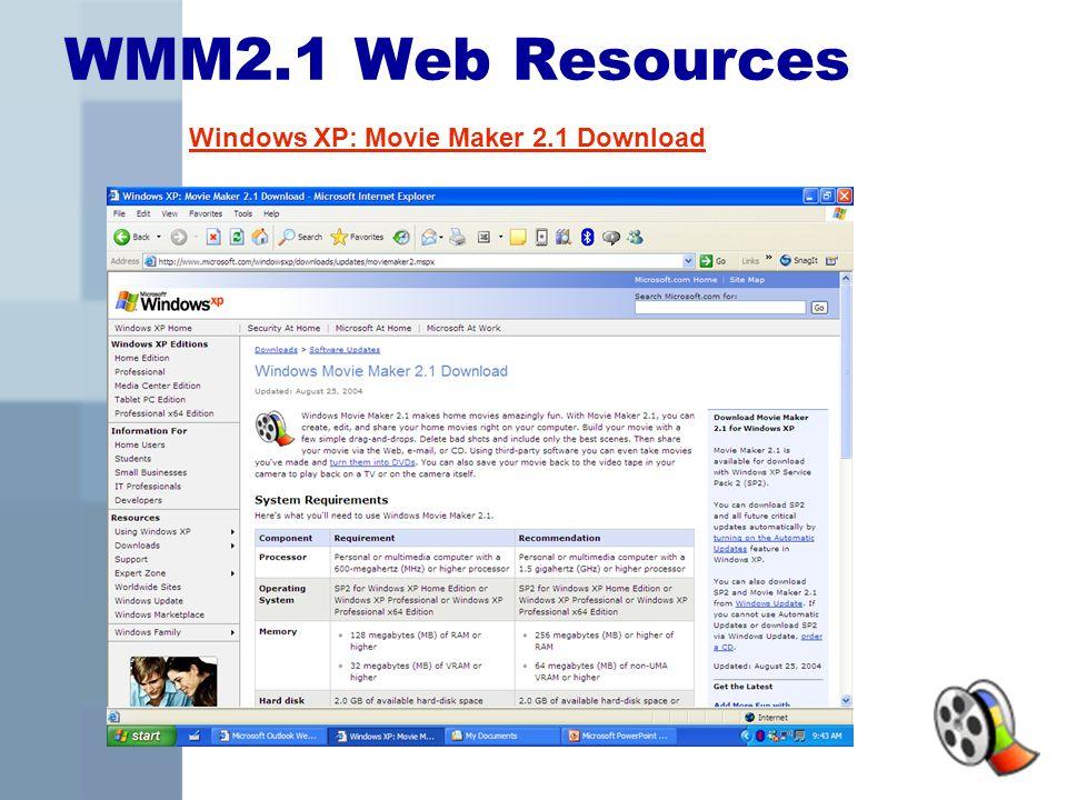 movie maker 2.1 download xp