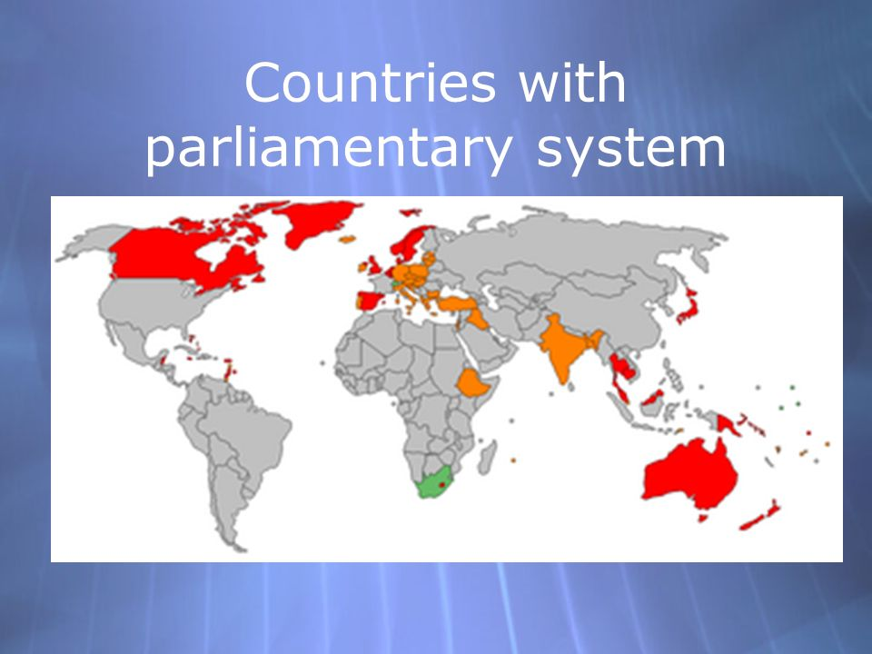 Countries with parliamentary system