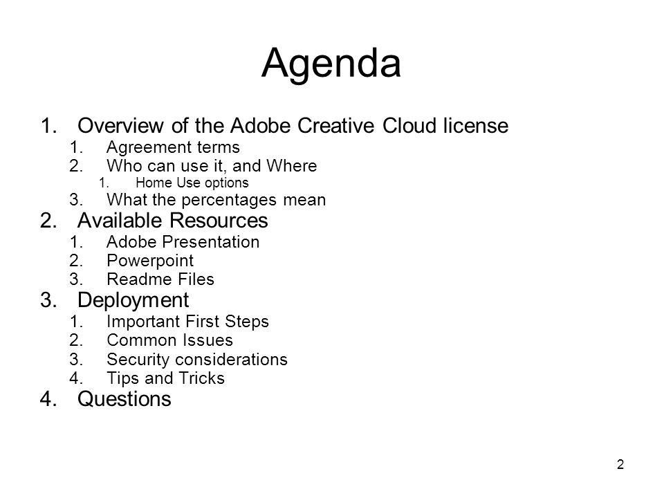 Site License Advisory Team Adobe Creative Cloud December 10 2014