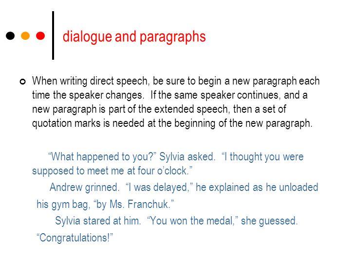 dialogue writing exercises