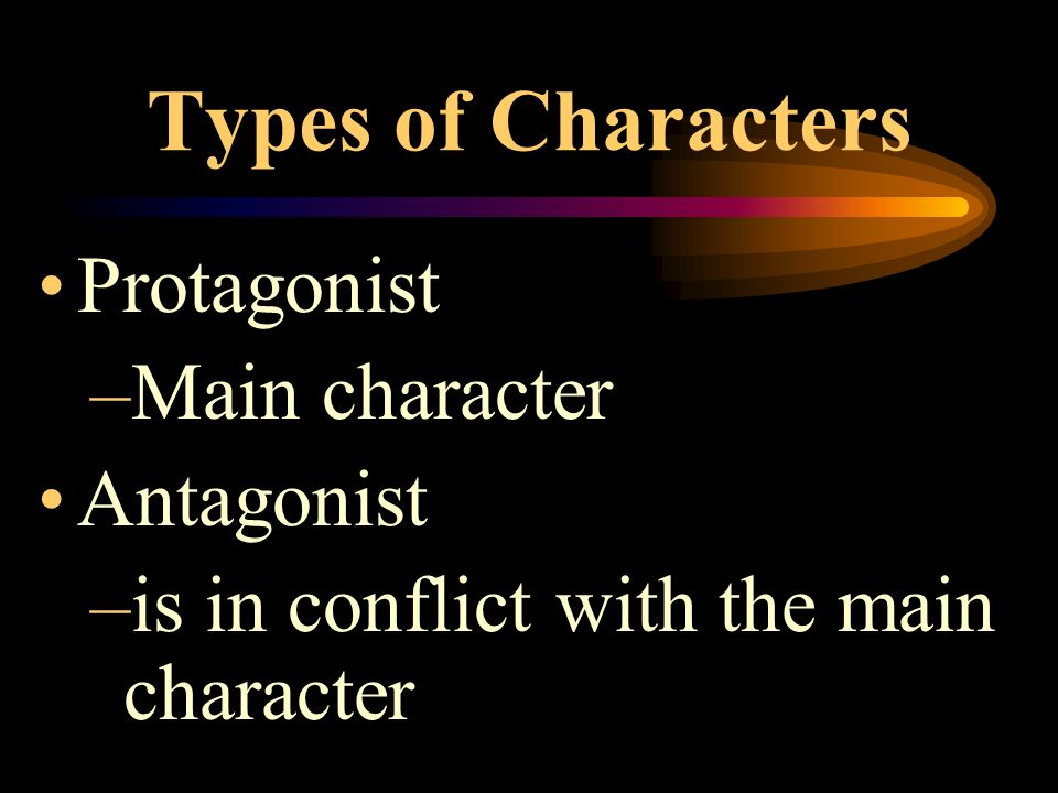 Characters Actors in the story's plot Examples: people, animals, or whatever the writer chooses