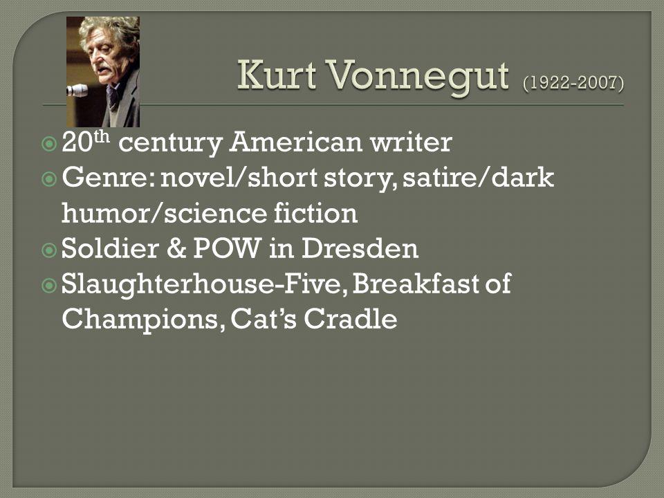 Kurt Vonnegut 20 Th Century American Writer Genre Novel