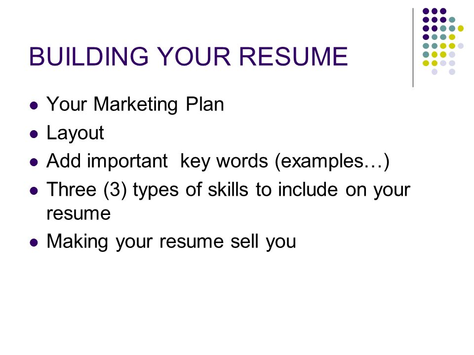 resume interviewing skills marketing yourself one word at a time