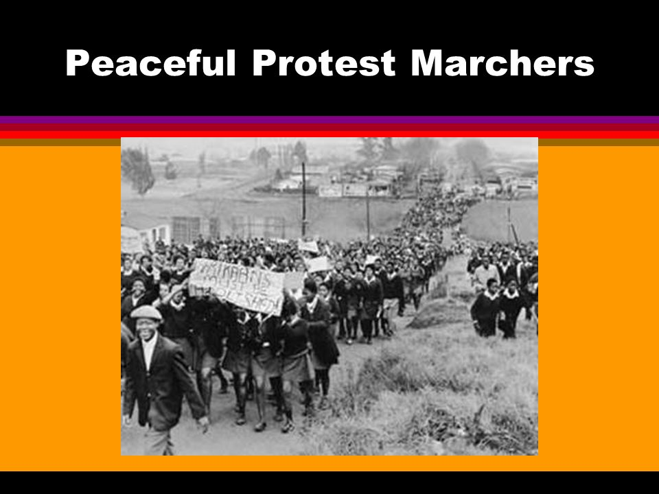 Peaceful Protest Marchers