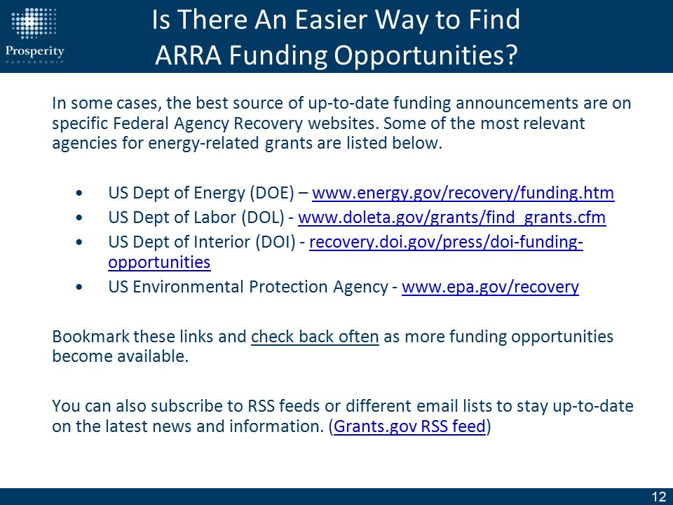 1 A Basic Introduction to Energy-Related ARRA Funding