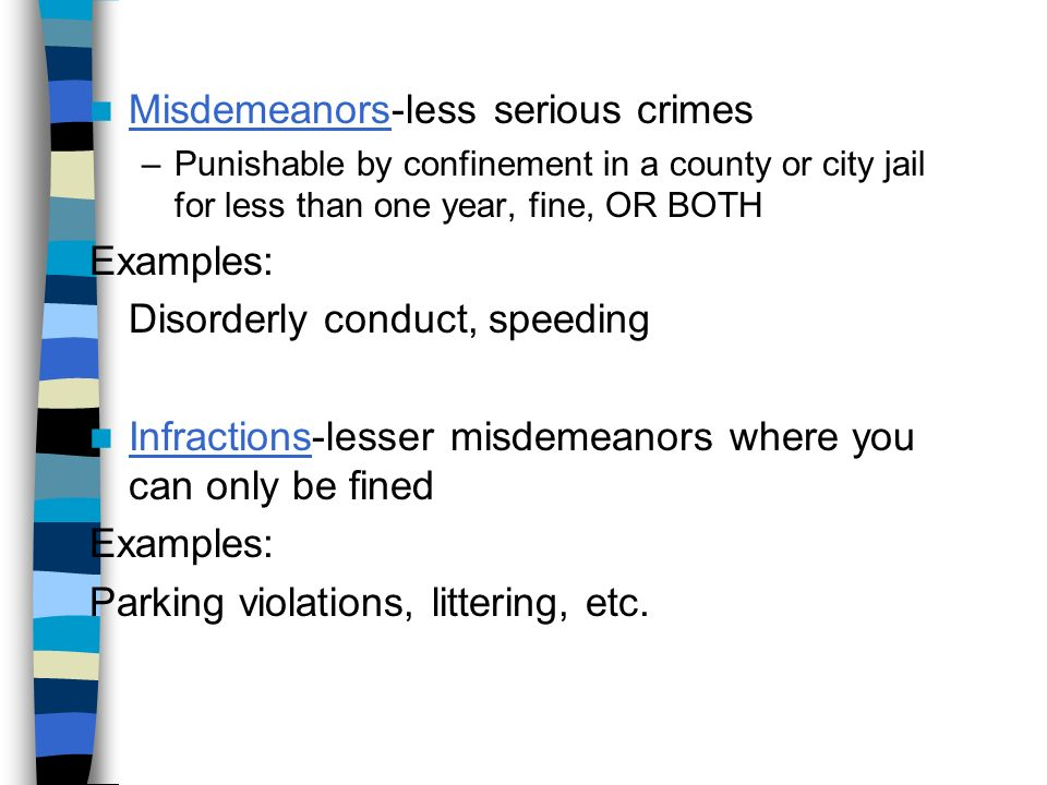 Chapter 4 Our Criminal Laws What Are Crimes Crimes Punishable