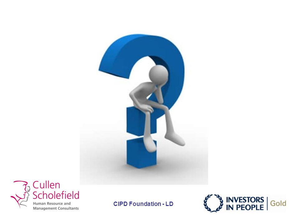 CIPD Foundation - LD I N T R O Interest Need Title Range Output