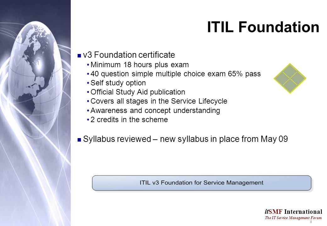 1 It Smf International The It Service Management Forum Itil V3