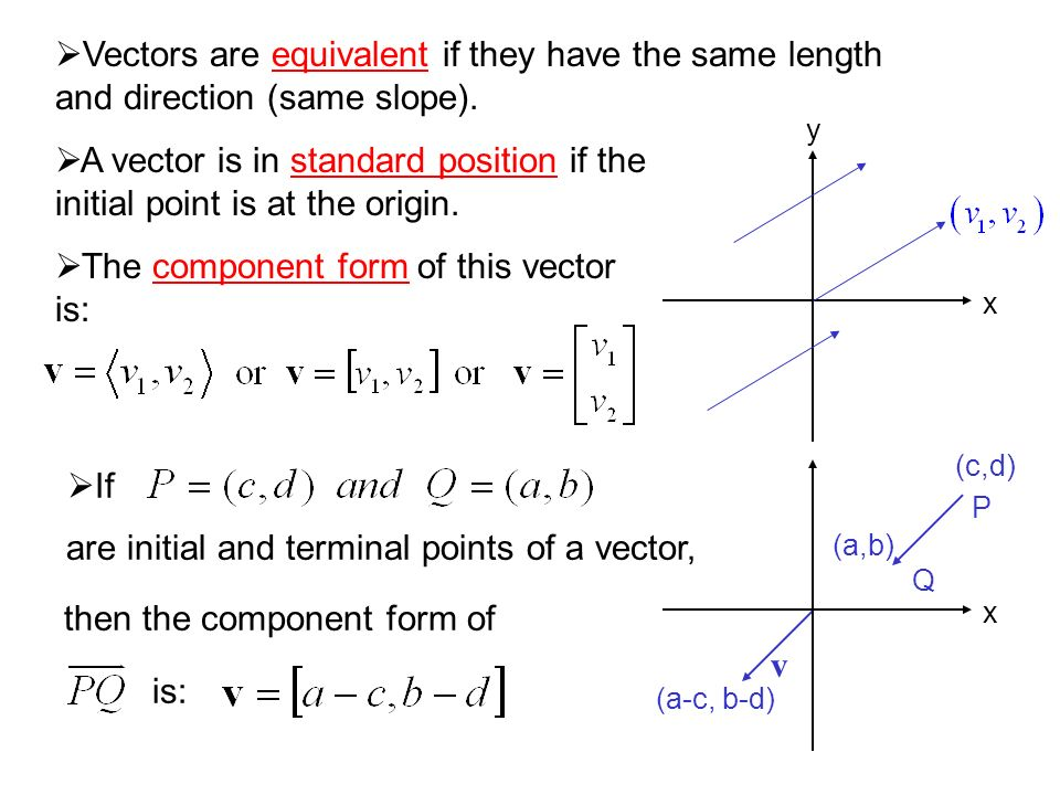 11 12 The Geometry And Algebra Of Vectors Quantities That