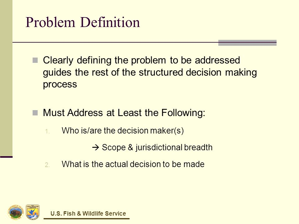 Problem Definition Framing Decision Problems Caribbean LCC June 3-4 ...