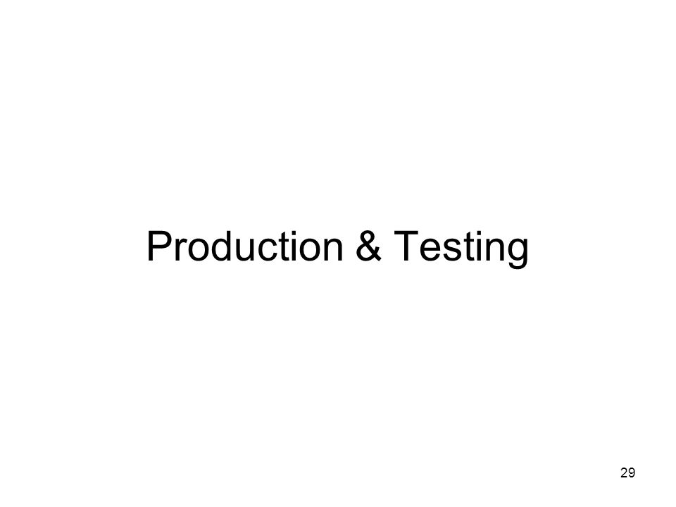 29 Production & Testing