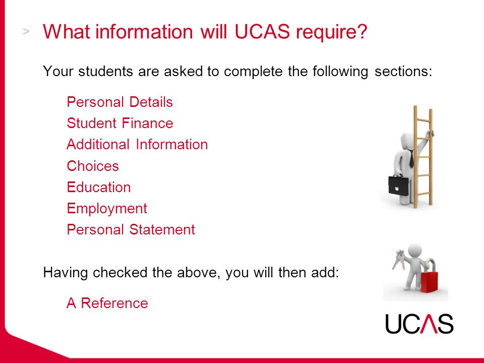What information will UCAS require.