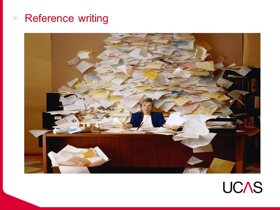  Work the UCAS reference into the existing school schedule.