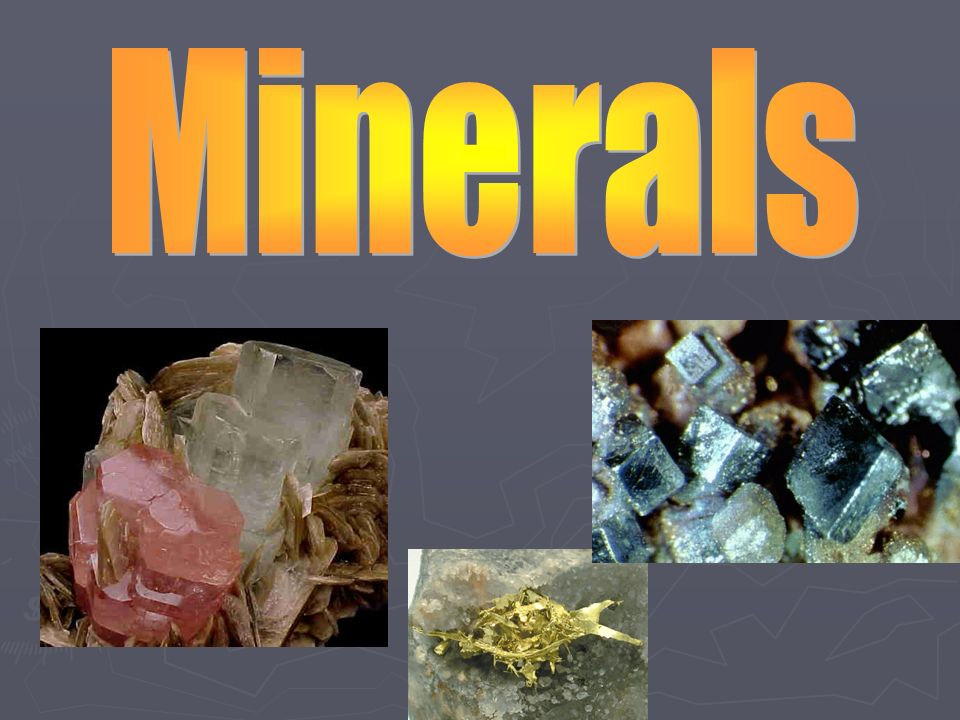 What Are Some Examples Of Minerals You See In Your Daily Life What
