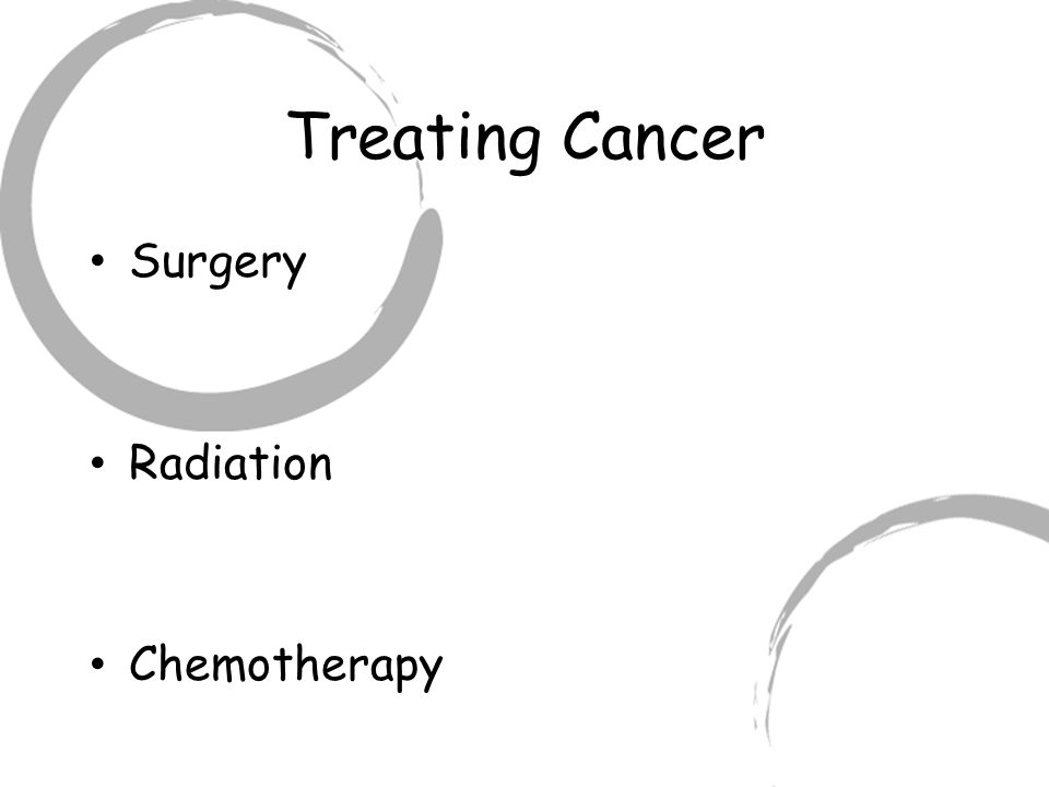 Treating Cancer Surgery Radiation Chemotherapy