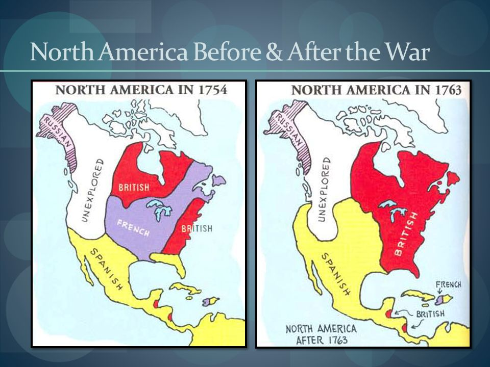 North America Before & After the War
