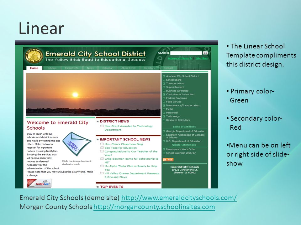 DISTRICT DESIGN CHOICES Preparing for your New District Website with ...