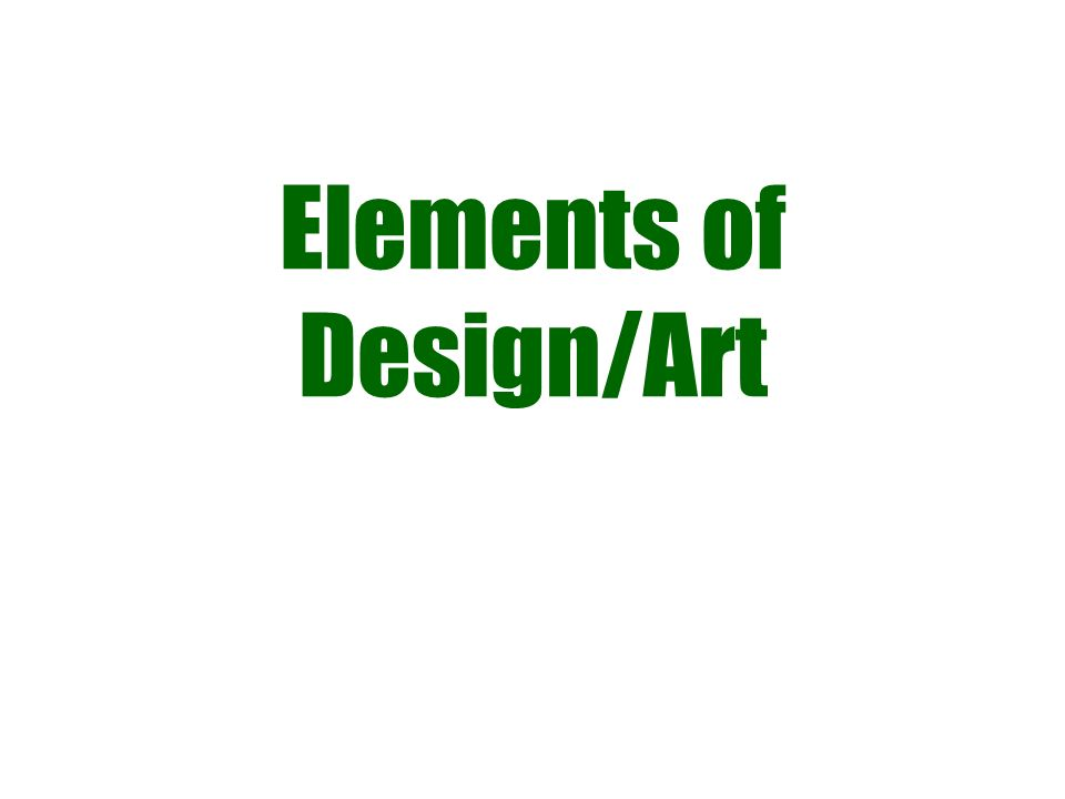 Elements of Design/Art