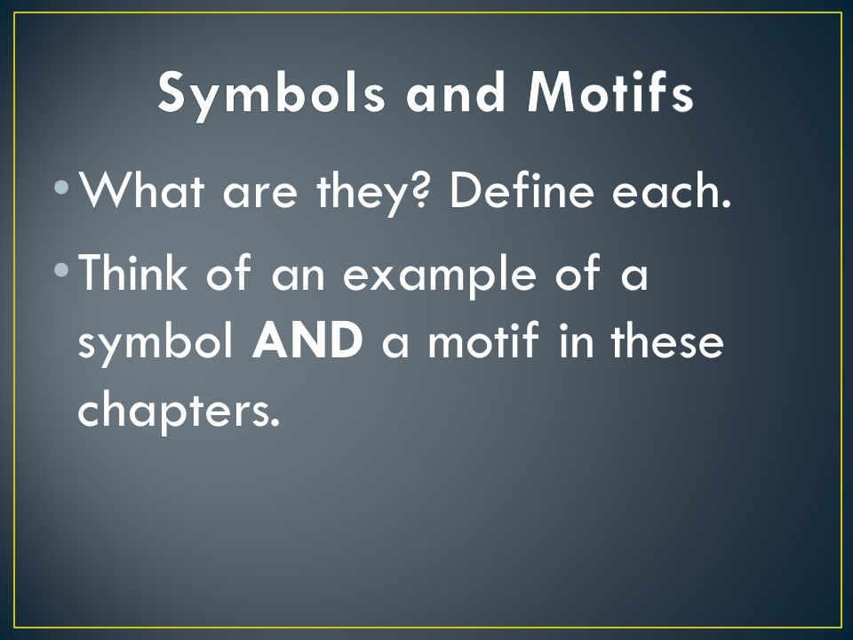 What Are They Define Each Think Of An Example Of A Symbol And A