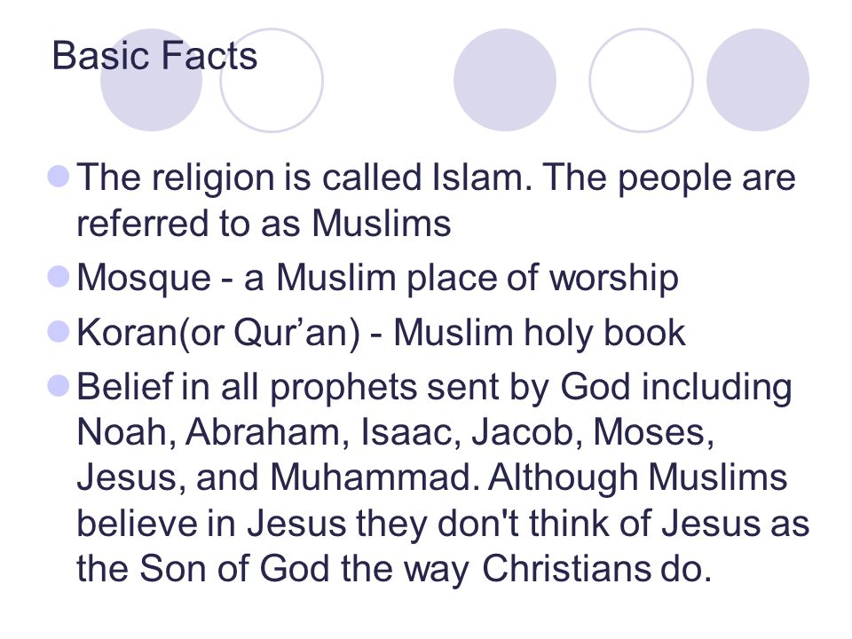 The religion is called Islam.