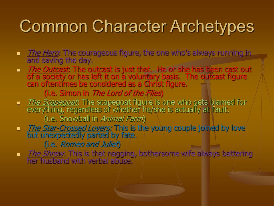 Literary Archetypes What Is An Archetype An Archetype Is A Term