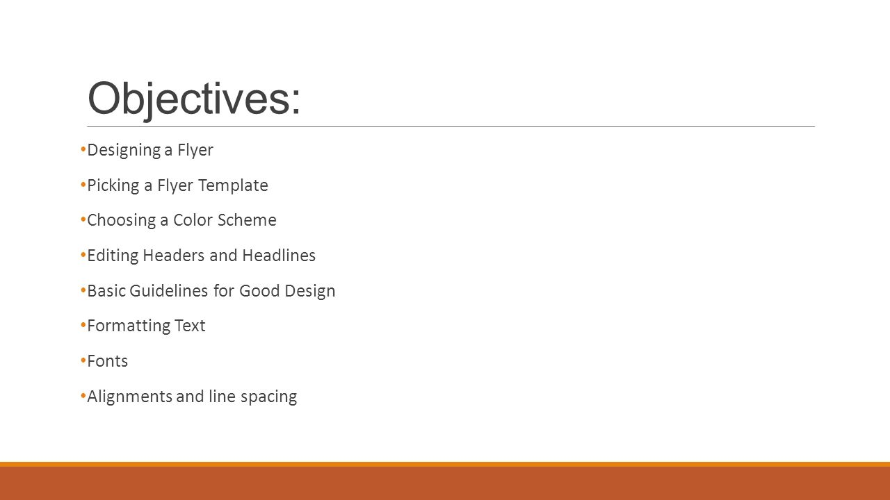 Creating Professional Flyers Publisher Objectives Designing A Flyer