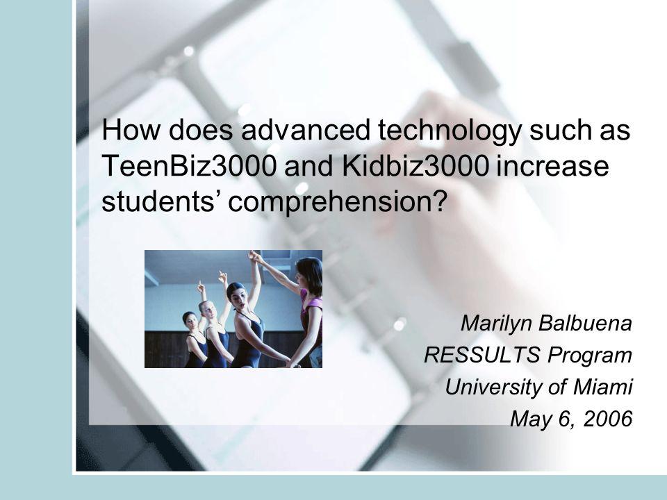 How Does Advanced Technology Such As Teenbiz3000 And Kidbiz3000