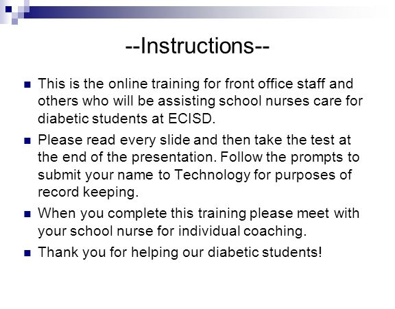 Instructions This Is The Online Training For Front Office Staff