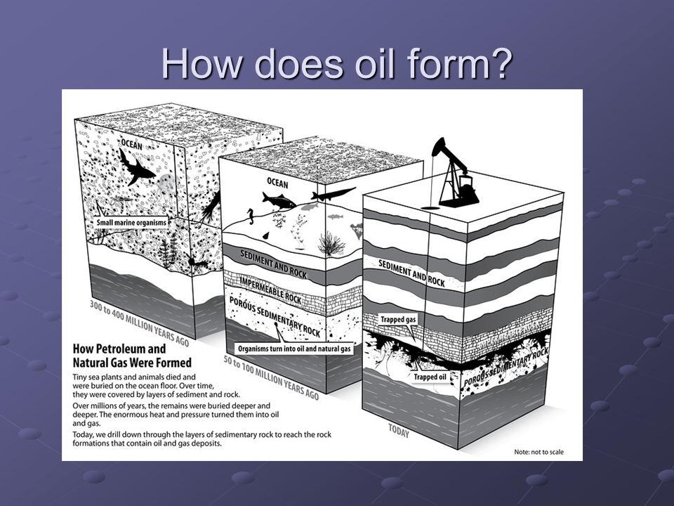 How does oil form