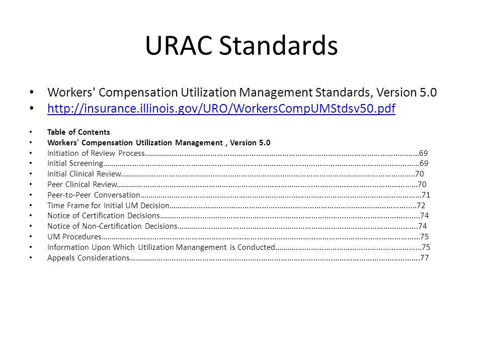 Contemporary Utilization Review Certification Composition Human