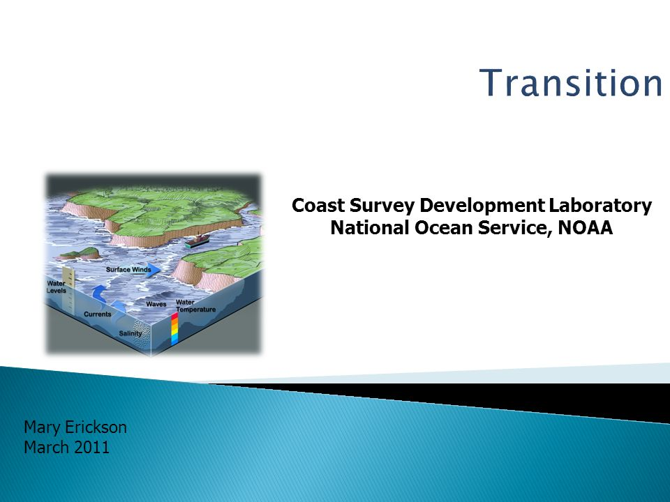 Coast Survey Development Laboratory National Ocean Service, NOAA Mary Erickson March 2011