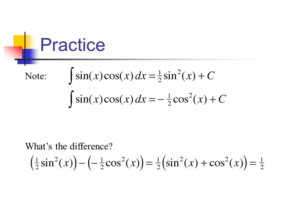 Practice Note: What's the difference