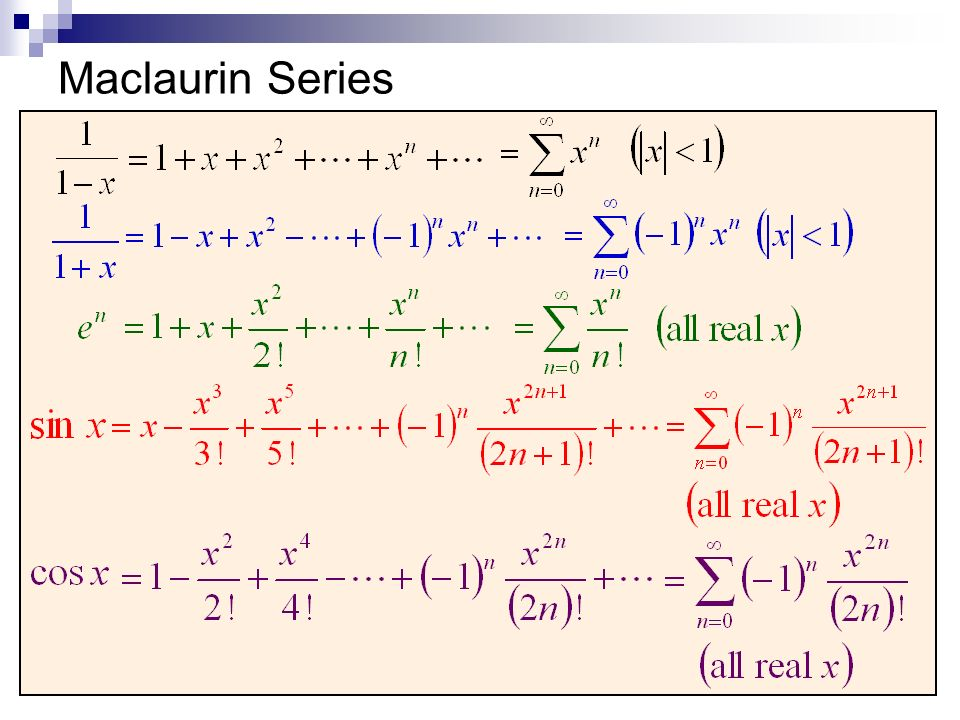 92 Taylor Series Quick Review Find A Formula For The Nth Derivative