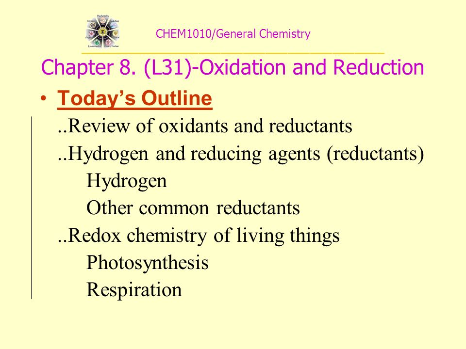 CHEM1010/General Chemistry _________________________________________ Chapter 8.