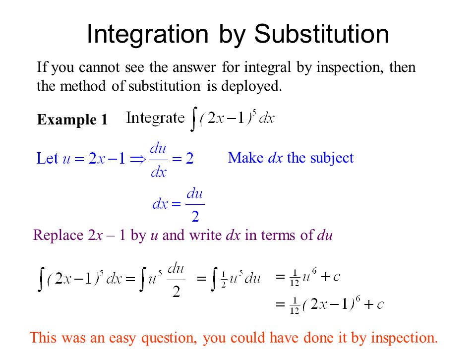 Integration examples and answers.