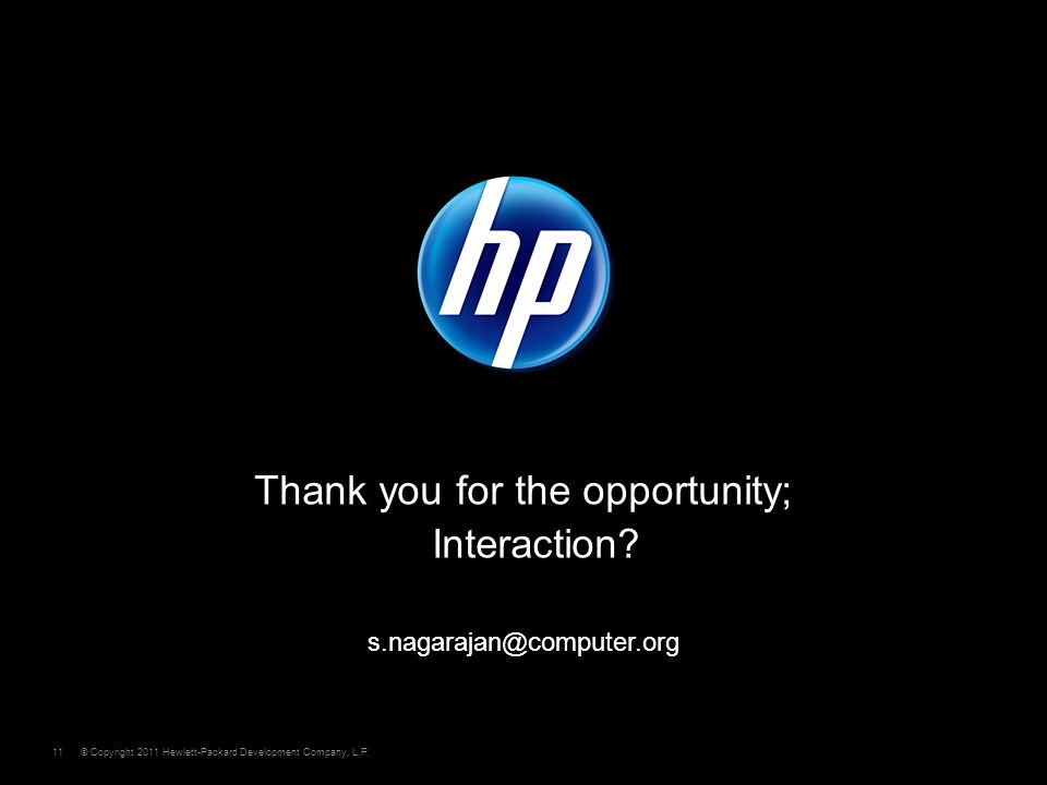 © Copyright 2011 Hewlett-Packard Development Company, L.P.