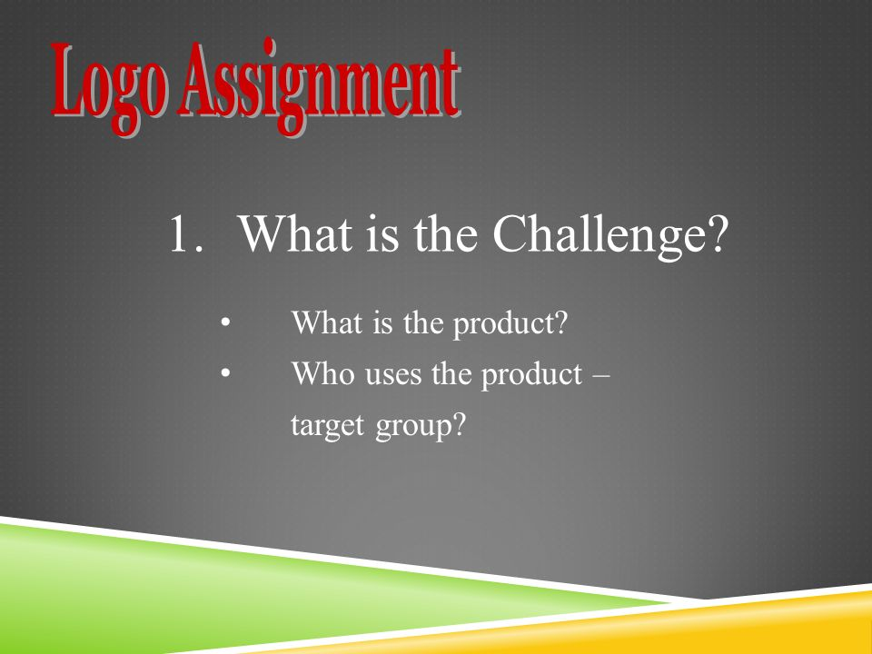 What is the product Who uses the product – target group 1.What is the Challenge