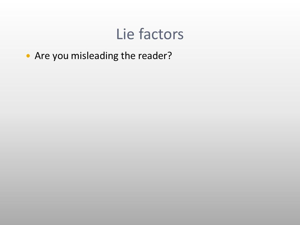 Lie factors Are you misleading the reader