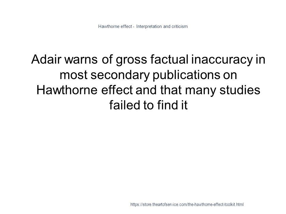 criticism of hawthorne studies