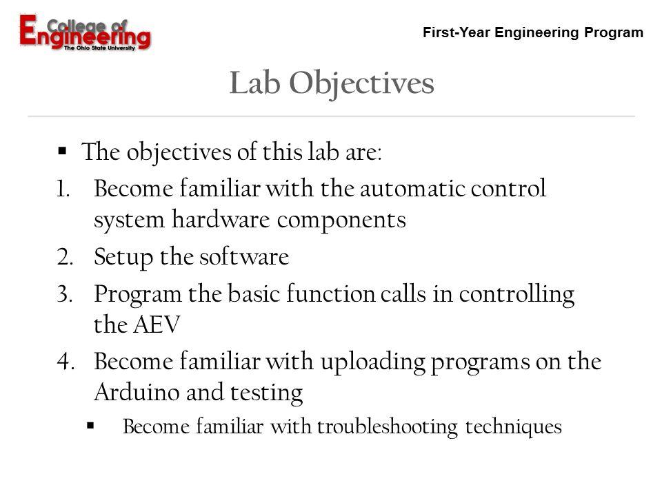 first year engineering program advanced energy vehicle arduino rh slideplayer com how to reference a lab manual mla how to reference a lab manual acs