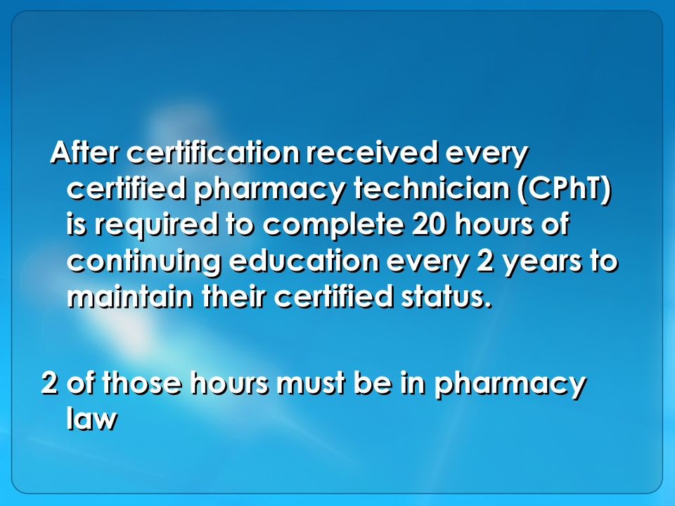 Pharmacy Tech Introduction Pharmacy Technicians Individuals Working